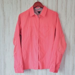 Patagonia, coral, snap, a/c, vent, pink,